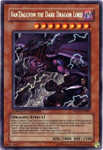 YuGiOh R Shonen Jump Promo Secret Rare Single Card YR01-EN001 Van'Dalgyon the Dark Dragon
