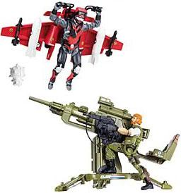GI Joe Vehicle CLAW Glider with Stratoviper & Flak Cannon with Outback Action Figure