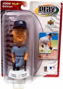 PlayMakers MLB Edition New York Yankees Bobble Head Roger Clemens Damaged Package, Mint Contents!