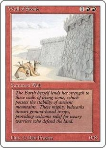 Magic the Gathering Revised Edition Single Card Uncommon Wall of Stone