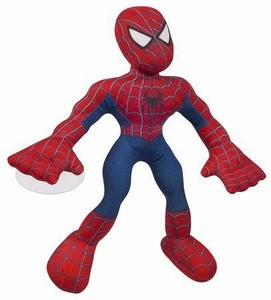 Spider-Man 3 Hasbro Movie Plush Super Wall Clingers Spider-Man [Red & Blue Costume]