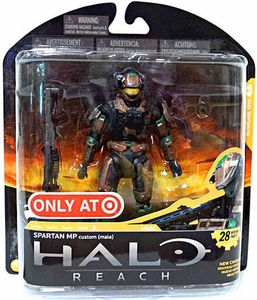 Halo Reach McFarlane Toys Series 3 Exclusive Action Figure BROWN / FOREST Spartan MP Military Police Custom {Male}