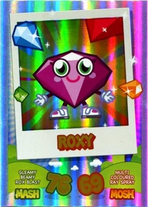 Topps Moshi Monsters Mash Up! Trading Card Game Rainbow Foil Single Card Roxy