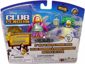 Disney Club Penguin Series 4 Mix 'N Match Mini Figure Pack Rad Scientist & Faery [Includes Coin with Code!]