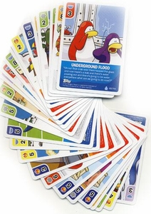 Topps Club Penguin Trading Card Game Lot of 25 Random Single Cards Plus 1 Bonus Foil Power Card! [Total of 26 Cards!]