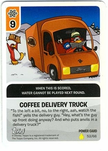 Topps Club Penguin Card-Jitsu Game Basic Series 2 Single Foil Power Card #53 Coffee Delivery Truck