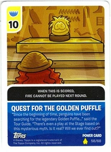 Topps Club Penguin Card-Jitsu Trading Card Game Series 2 Single Power Foil Card 58/68 Quest For The Golden Puffle