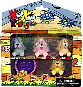 KooKoo Kennel Flocked Pup Koollectibles Mini Figure 4-Pack [RANDOM Dogs] BLOWOUT SALE!