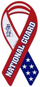 Car Magnet Ribbon Red, White & Blue National Guard