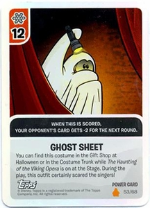 Topps Club Penguin Card-Jitsu Game Fire Series 3 Single Foil Power Card #53 Ghost Sheet