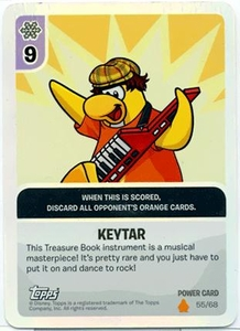 Topps Club Penguin Card-Jitsu Game Fire Series 3 Single Foil Power Card #55 Keytar