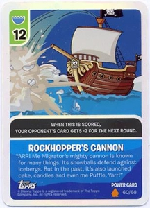 Topps Club Penguin Card-Jitsu Game Fire Series 3 Single Foil Power Card #60 Rockhopper's Cannon BLOWOUT SALE!