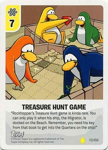 Topps Club Penguin Card-Jitsu Game Basic Series 2 Single Card #13 Treasure Hunt Game