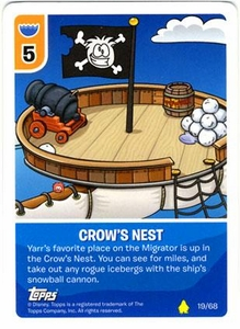 Topps Club Penguin Card-Jitsu Game Basic Series 2 Single Card #19 Crows Nest