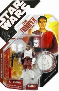 Star Wars 30th Anniversary Saga 2007 Action Figure Wave 9 #55 Clone Trooper in Training Clothes