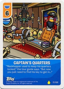 Topps Club Penguin Card-Jitsu Game Basic Series 2 Single Card #21 Captain's Quarters