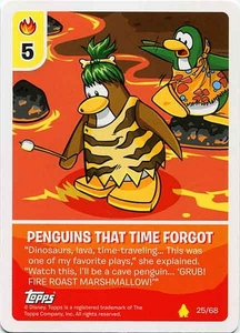 Topps Club Penguin Card-Jitsu Game Basic Series 2 Single Card #25 Penguins That Time Forgot