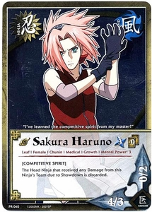 Naruto Card Game Shonen Jump Promo Single Card PR040 Sakura Haruno BLOWOUT SALE!