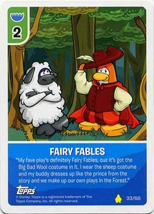 Topps Club Penguin Card-Jitsu Game Basic Series 2 Single Card #33 Fairy Fables