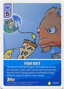 Topps Club Penguin Card-Jitsu Game Basic Series 2 Single Card #36 Fish Bait