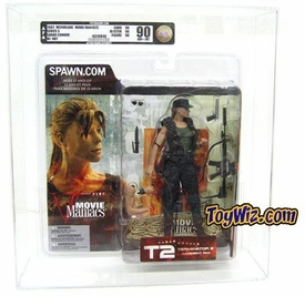 McFarlane Toys Movie Maniacs Series 5 Action Figure Sarah Connor (Hat) Variant AFA Graded 90
