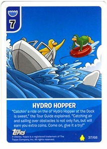 Topps Club Penguin Card-Jitsu Game Basic Series 2 Single Card #37 Hydro Hopper