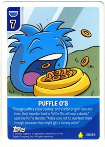 Topps Club Penguin Card-Jitsu Game Basic Series 2 Single Card #38 Puffle-O's