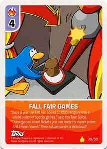 Topps Club Penguin Card-Jitsu Game Basic Series 2 Single Card #39 Fall Fair Games