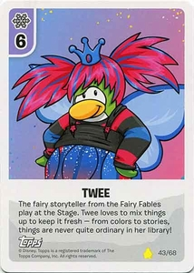 Topps Club Penguin Card-Jitsu Game Basic Series 2 Single Card #43 Twee