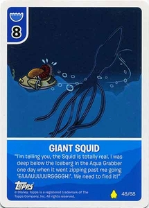Topps Club Penguin Card-Jitsu Game Basic Series 2 Single Card #48 Giant Squid