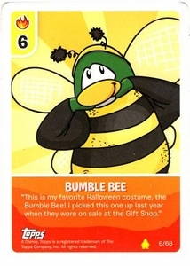 Topps Club Penguin Card-Jitsu Game Basic Series 2 Single Card #6 Bumble Bee