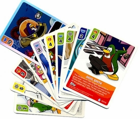 Topps Club Penguin Trading Card Game Lot of 10 Random Single Cards Plus 1 Bonus Foil Power Card! [Total of 11 Cards!]