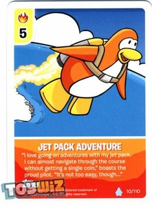 Topps Club Penguin Card-Jitsu Game Basic Series 1 Single Card #10 Jet Pack Adventure
