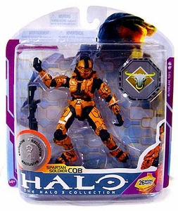 Halo 3 McFarlane Toys Series 6 [MEDAL EDITION] Exclusive Action Figure ORANGE Spartan CQB COLLECTOR'S CHOICE!