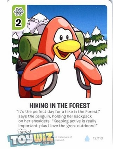 Topps Club Penguin Card-Jitsu Game Basic Series 1 Single Card #12 Hiking in the Forest
