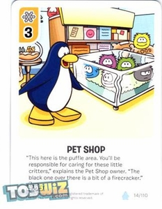 Topps Club Penguin Card-Jitsu Game Basic Series 1 Single Card #14 Pet Shop