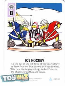 Topps Club Penguin Card-Jitsu Game Basic Series 1 Single Card #16 Ice Hockey