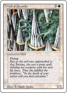 Magic the Gathering Revised Edition Single Card Uncommon Wall of Swords