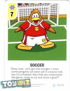 Topps Club Penguin Card-Jitsu Game Basic Series 1 Single Card #20 Soccer