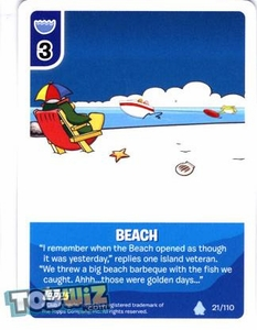 Topps Club Penguin Card-Jitsu Game Basic Series 1 Single Card #21 Beach