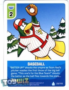 Topps Club Penguin Card-Jitsu Game Basic Series 1 Single Card #23 Baseball