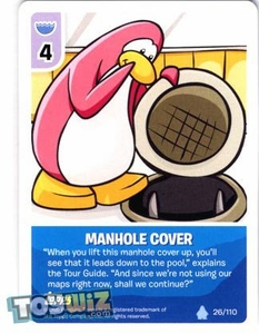 Topps Club Penguin Card-Jitsu Game Basic Series 1 Single Card #26 Manhole Cover