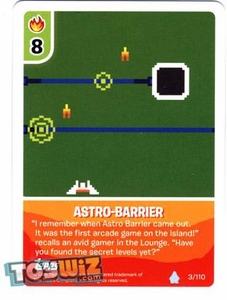 Topps Club Penguin Card-Jitsu Game Basic Series 1 Single Card #3 Astro-Barrier