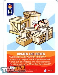 Topps Club Penguin Card-Jitsu Game Basic Series 1 Single Card #32 Crates and Boxes