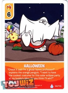 Topps Club Penguin Card-Jitsu Game Basic Series 1 Single Card #34 Halloween
