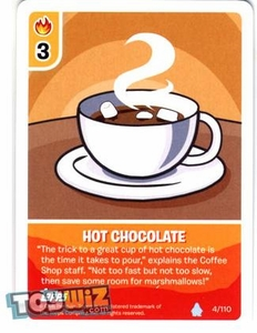 Topps Club Penguin Card-Jitsu Game Basic Series 1 Single Card #4 Hot Chocolate