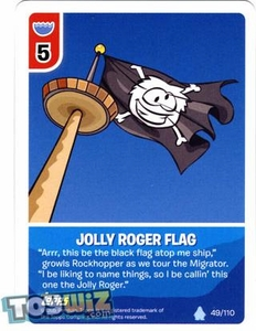 Topps Club Penguin Card-Jitsu Game Basic Series 1 Single Card #49 Jolly Roger Flag