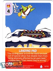 Topps Club Penguin Card-Jitsu Game Basic Series 1 Single Card #5 Landing Pad
