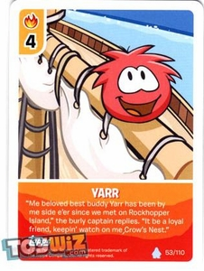 Topps Club Penguin Card-Jitsu Game Basic Series 1 Single Card #53 Yarr