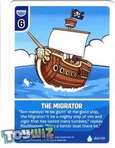 Topps Club Penguin Card-Jitsu Game Basic Series 1 Single Card #64 The Migrator